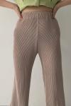 Sand Pleasant Pleats Pants