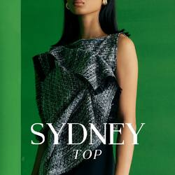 SYDNEY TOP for the next fashion icon pieces in your wardrobe. put on your short pants and flats and you're as chic as you could be