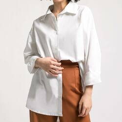 for a clean and new state of mind with a white fresh EARA TOP _  WHITE EARA TOP idr 269,000  bust : 106 cm length : 68 cm arm hole : 42 cm sleeve length : 46 cm cotton material