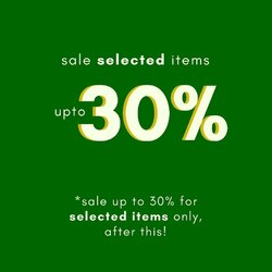 last day sale on exclusive selected items up to 30%!! brings joy to your wardrobe in best prices