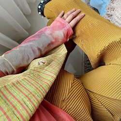 momma @nissachair looking comfortable and in style through her pregnancy with MUSTARD PLEASANT PANTS - 299,000