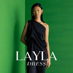 go get the glam inside you, in this versatile BLACK LAYLA DRESS - 399,000