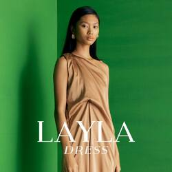 NUDE LAYLA DRESS - 399,000 for your casual or elegant look. you can just go with flats or kitten heels and you're ready to go