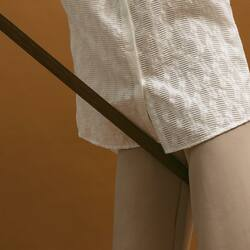 hint of nice textured top and comfortable pants _  LACE EARA TOP & BEIGE FINN PANTS