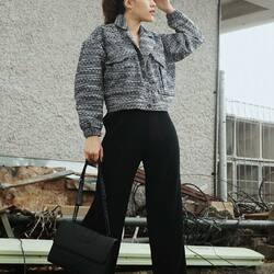 @chintyanindita steal the look of chic business woman in BLISS OUTER and BLACK PLEASANT PANTS