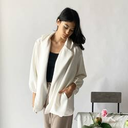 white SELMA outer for this cool weather
